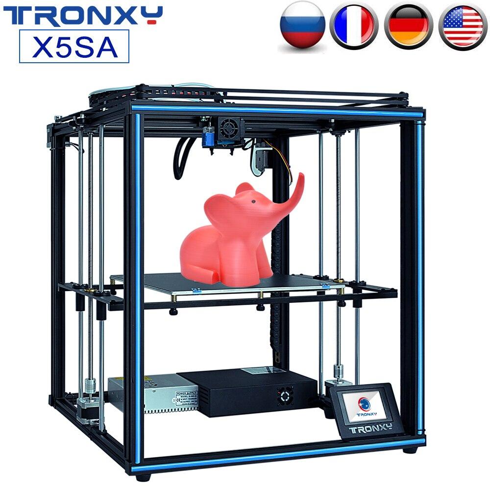 TRONXY Atualização 24V X5SA X5SA-400 3D Impressora Rápida Montagem DIY Kit Auto Nivelamento Sensor de Retomar A Imprimir Maior Impressão Filamento tamanho