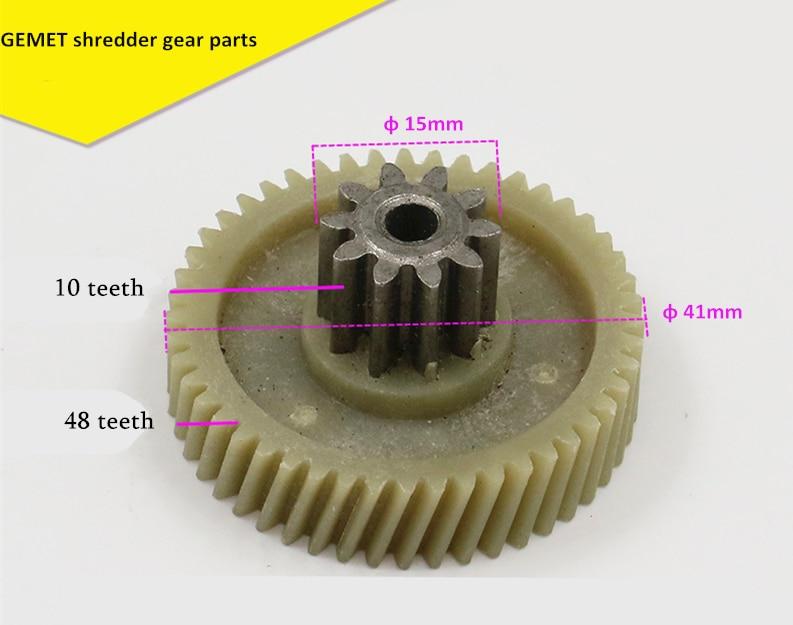 10T+48T M3 M6 M9 A91 C-23 C-26 A-2205 Shredder Gear Parts 10 Teeth 48 Teeth