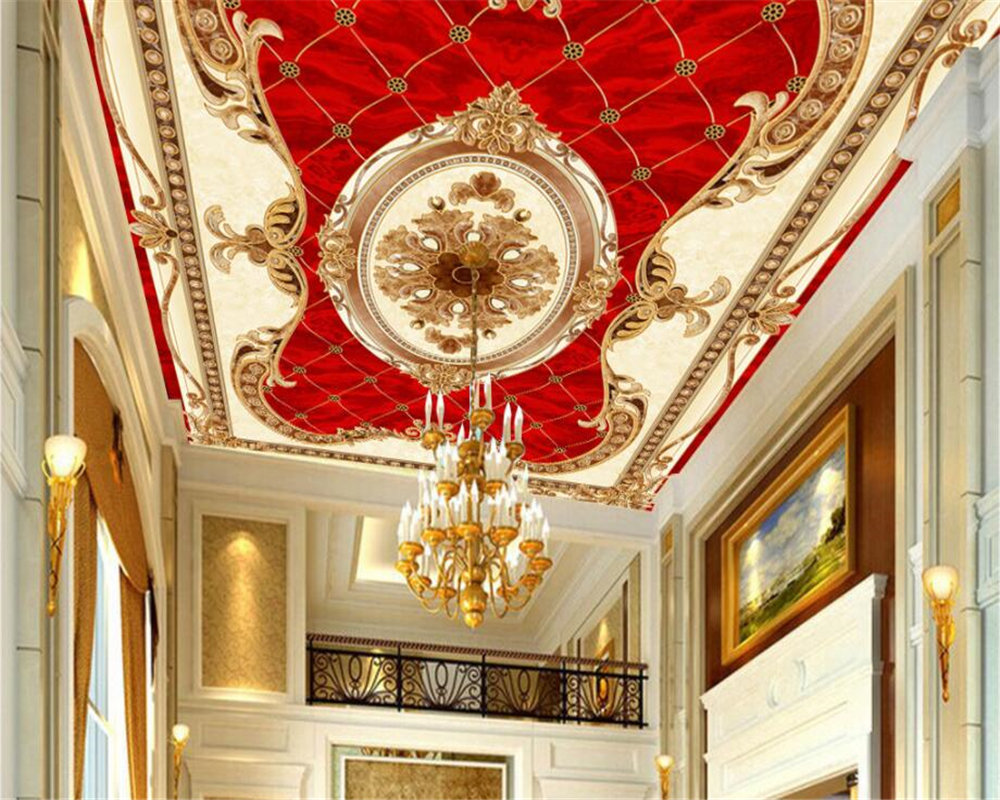 Beibehang Custom Wallpaper Home Decorative Mural European Style Ceiling Ceiling European Carpet Parquet Floor Sticker wallpaper beibehang embroidery wallpaper european