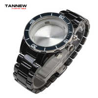 Black High quality watch accessories,Ceramic strap watch strap with butterfly buckle for AR1429