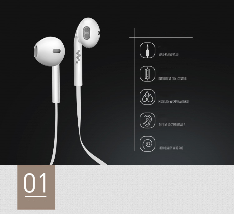 Hot Sale High Quality Stereo Earphone With Microphone comfortable to wear