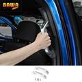HANGUP  автомобильная дверь  задний подлокотник  ручка для захвата  комплект  декоративная крышка для Ford F150  2015  алюминиевые аксессуары для инте...