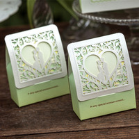 Green Hollow Candy Paper Box Creative Box Wedding Supplies