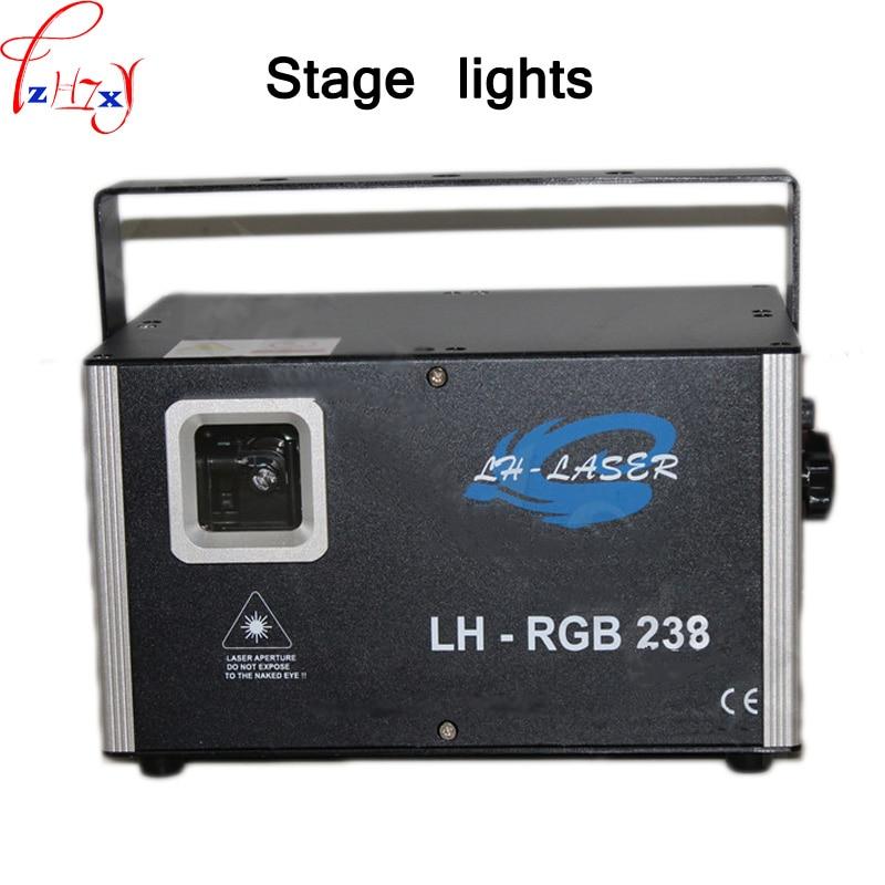 DMX audio control KTV floodlight 30K/45K simulation results full color flash stage mini sound control laser light 90-240V 1pc