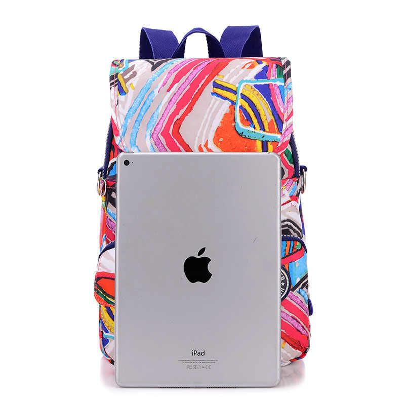 Женский рюкзак водонепроницаемый нейлон школьные сумки для подростков девочек Студенческая Дорожная сумка-сетчел для книг плечо школьный рюкзак Mochilas
