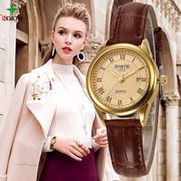 NORTH Women Fashion Casual Watch 30M Waterproof Luxury Brand Quartz Woman Watches 2018 Clock Ladies Gold