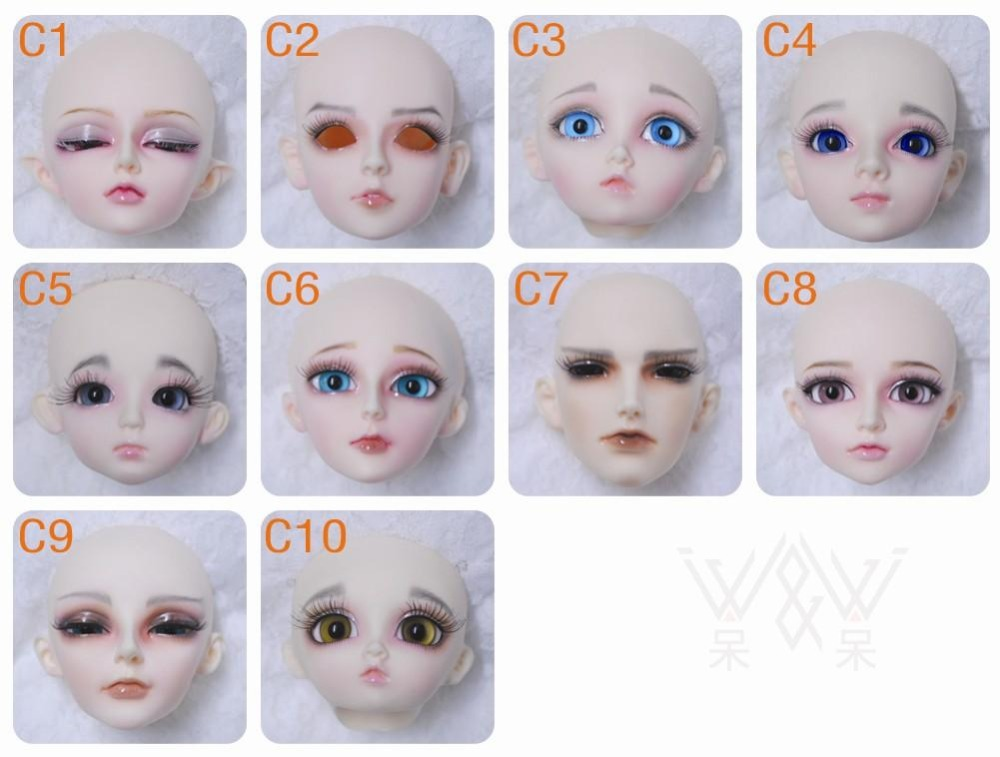 4x 1:4 Scale BJD Doll Eyelashes Assembly Makeup Accessories Girl Decor