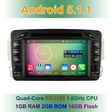 Quad Core Android 5.1.1 Car DVD Player GPS for Mercedes/Benz C200 W208 W170 W203 W210 W463 W163 W168 Vito Viano W639 Radio wifi