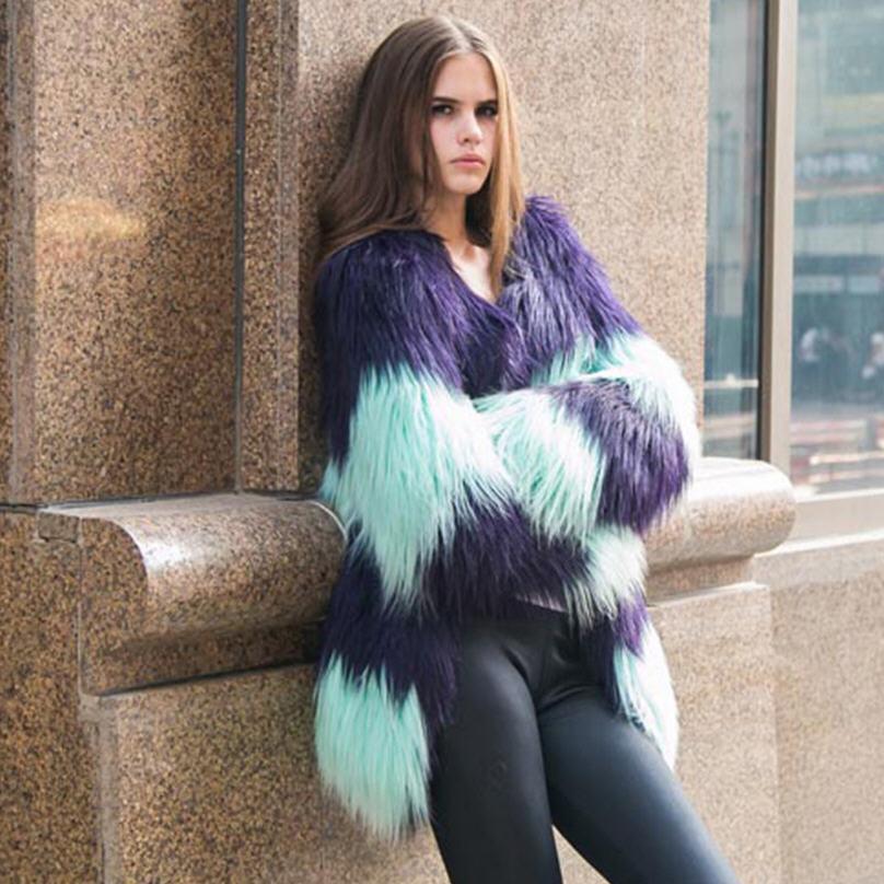 Popular Blue Faux Fur Coat-Buy Cheap Blue Faux Fur Coat lots from ...