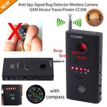 Полный спектр анти-шпионский детектор ошибок CC308 мини беспроводная камера скрытый сигнал GSM устройство искатель конфиденциальности защита безопасности