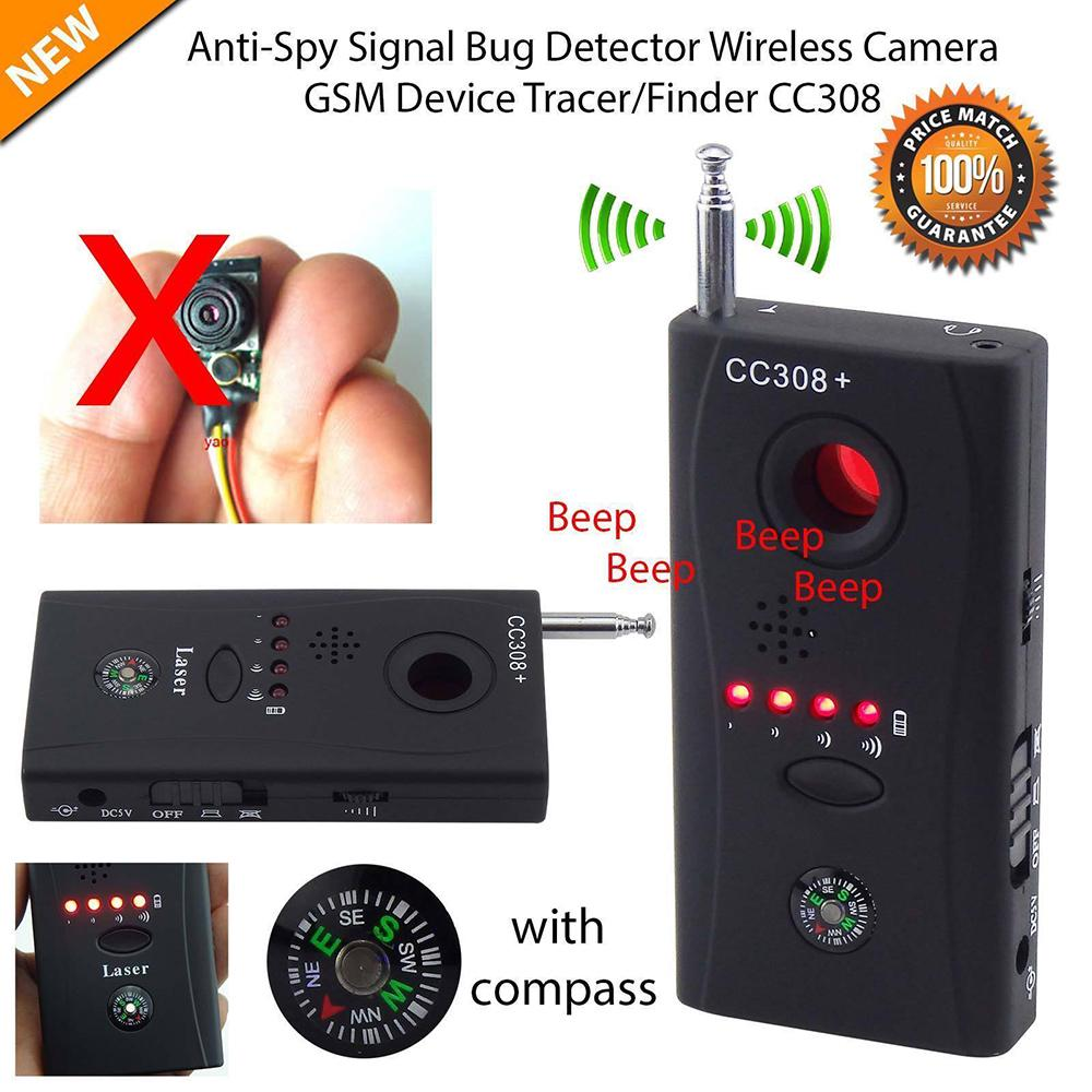 New Full Range Anti - Spy Bug Detector CC308 Mini Wireless Camera Hidden Signal GSM Device Finder Privacy Protect Security