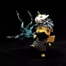 15cm Pikachu Cosplay Naruto Kakashi Cartoon Anime Pocket Action Figure PVC toys Collection figures for friends