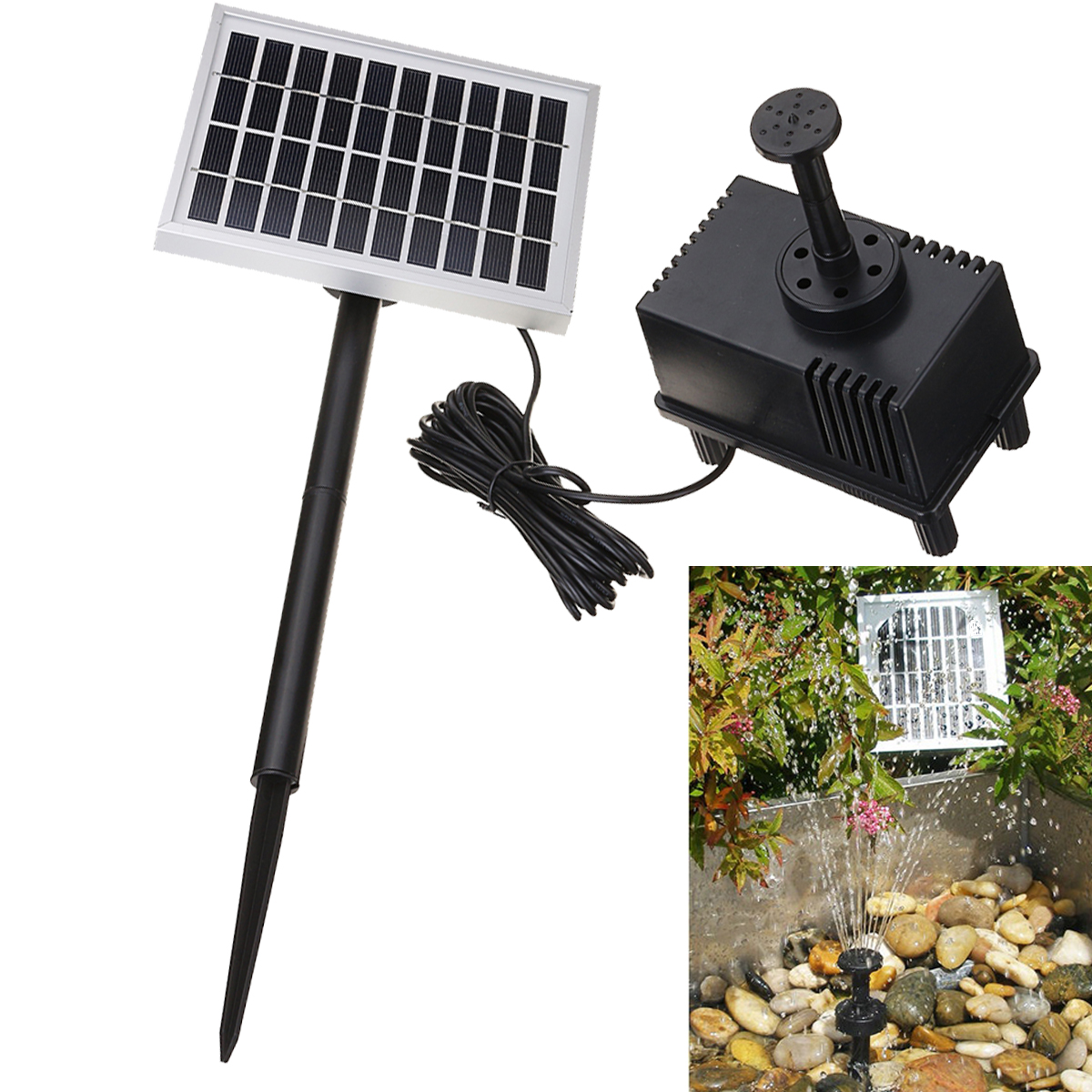 Solar Panel Power Pump Brushless Solar Powered Submersible Fountain Pool Pond Water Pump Garden Plants Watering Kit 3 years guarantee solar wells pumps made in china solar pool pump kit