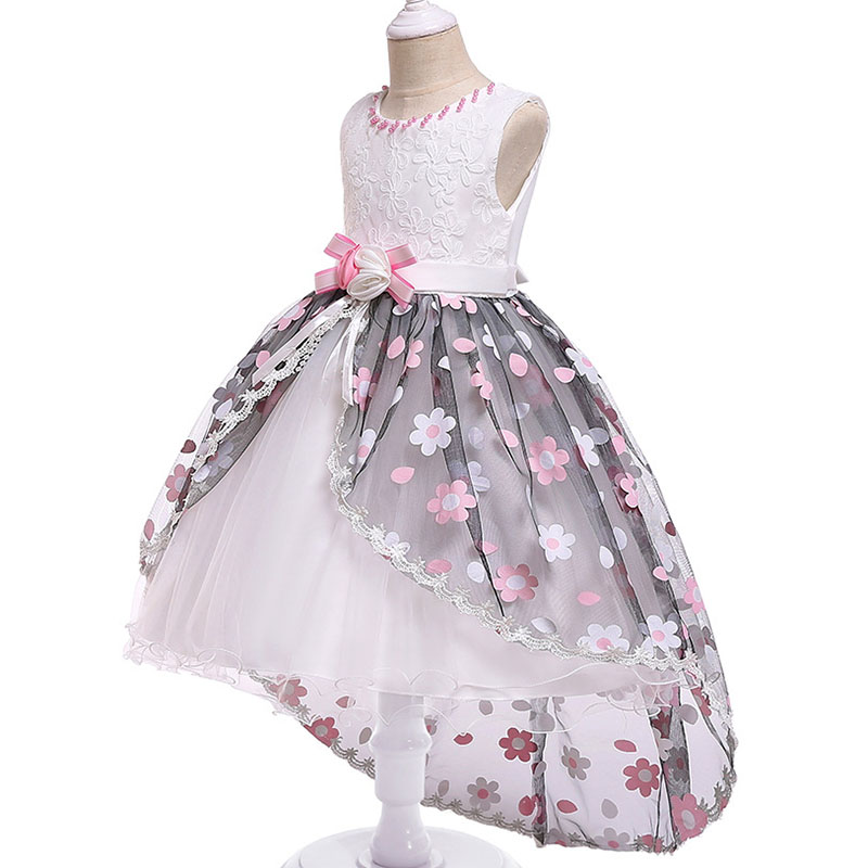 2019 Retail   Flower     Girl     Dresses   For Children Kids   Girl   Ball Gown First Communion   Girls   Pageant   Dresses   Evening   Dress   L5067