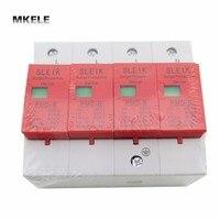 385V SPD 4P 40KA~80KA House Din Rail Surge Protector Protective Low voltage Arrester Device