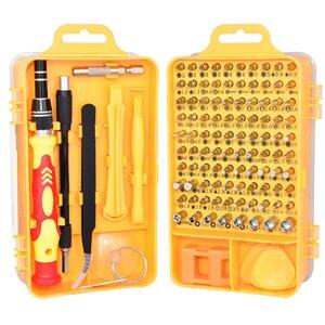 Image 2 - 115 in 1 Precision Screwdriver Bit Set Multi Function hand tools destornillador ratchet Torx screw driver set adaptador de punta
