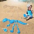 11 pçs/set Sandbeach Conjunto de Ossos do Esqueleto do Dinossauro Engraçado Molde de Areia Brinquedo Praia Crianças Brinquedos de Verão Para Crianças