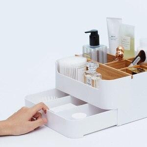 Image 2 - オリジナル Xiaomi Mijia 竹ファイバー着脱式オーガナイザーボックスサブグリッドデザイン化粧品収納ボックスのための浴室