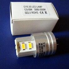 Kualitas tinggi 5630 12 v GY6.35 led bulb, 12 v G6.35 led lampu, GU6.35 led cahaya gratis pengiriman 6 pcs/lot