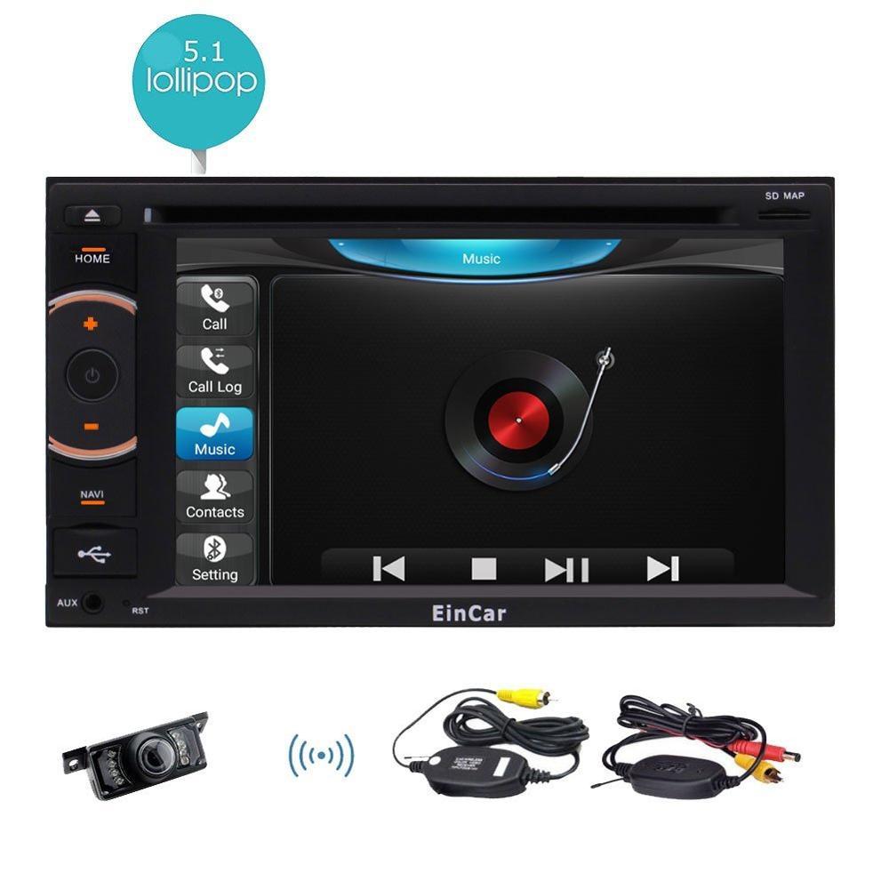 Wireless Rear Camera+ Android 5.1 Car pc Deck Auto Car DVD Player Radio Head Unit 2Din Auto GPS Media HD 1080P Player Wifi SWC