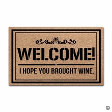 Rubber Doormat For Entrance Door Floor Mat Welcome! I Hope You Brought Wine Funny Door Mat Indoor Outdoor Decorative Doormat Non стоимость