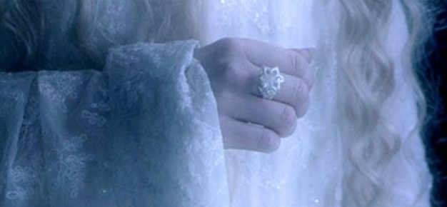 Đồ Trang Sức mỹ Phụ Nữ Thực 100% 925 Soild Sterling Silver Bạc nhẫn LOTR Các Galadriel Nenya Zircon Ennagement Wedding Nhạc Chuông