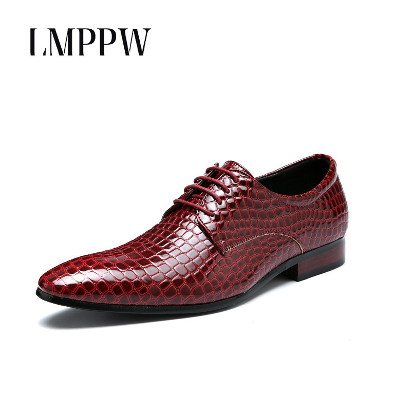 European Style Snake Print Mens Leather Shoes Fashion Business Dress Oxford Shoes Men Moccasins Serpentine Pattern Casual Shoes
