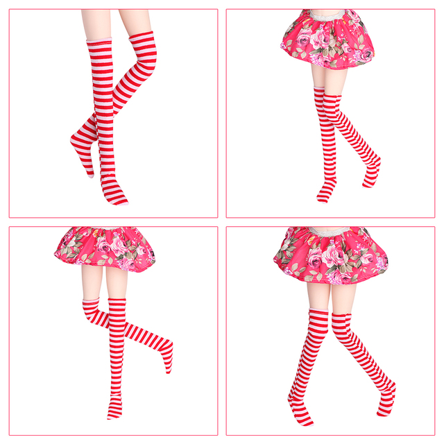 1Pair Lovely Sexy Lace Fashion BOW Pattern Fishnet Stocking for BJD 1/3 1/4 1/6 SD MSD YOSD Doll Accessories Toy Clothes  4