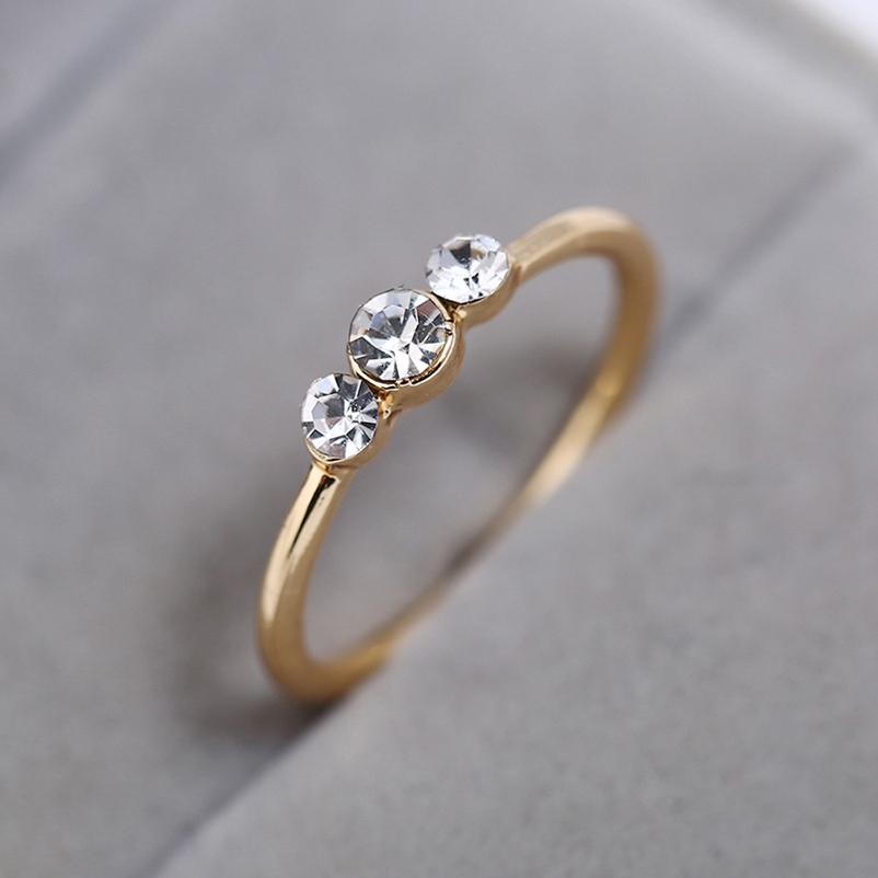 New Fashion Engagement Rings For Women Rose gold Color Wedding Rings Female Angel Austrian Crystals Jewelry Drop Shipping