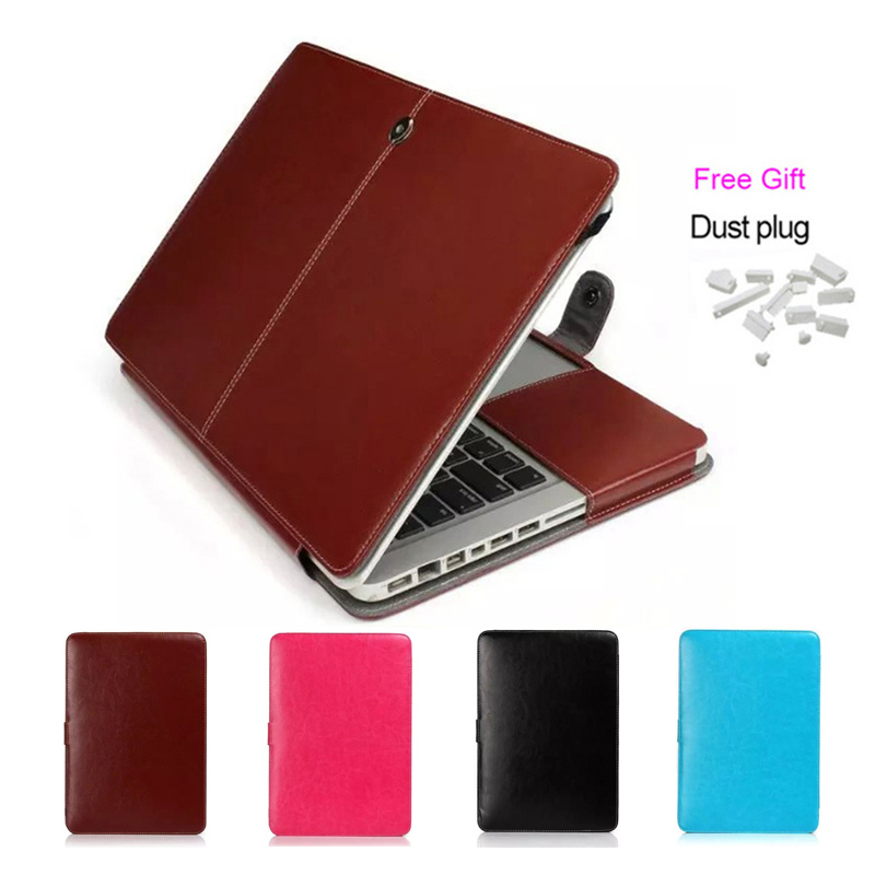 Vmonv Soft PU Leather Protective Laptop Case for Macbook Air Pro Retina 11 12 13 15 Cover for MacBook Pro 13 15 Touch Bar Case