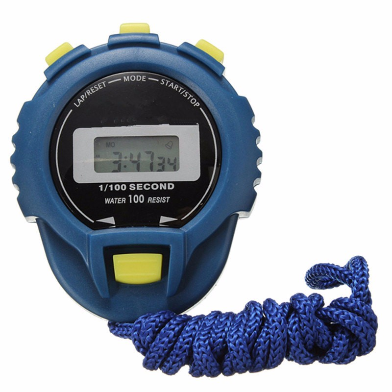 Fitness Gym Step Pedometer Training LCD Digital Counter Chronograph Timer Stopwatch Sport Odometer Alarm Watch
