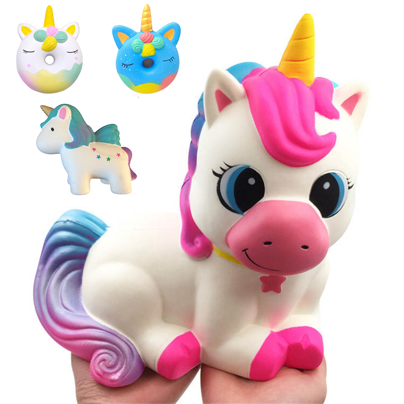 Huge Jumbo Squishy Toys Cute Super Big Unicorn Horse Slow Rising Fly Unicorn Squishies Stress Relief Toy Kids Antistress Gift
