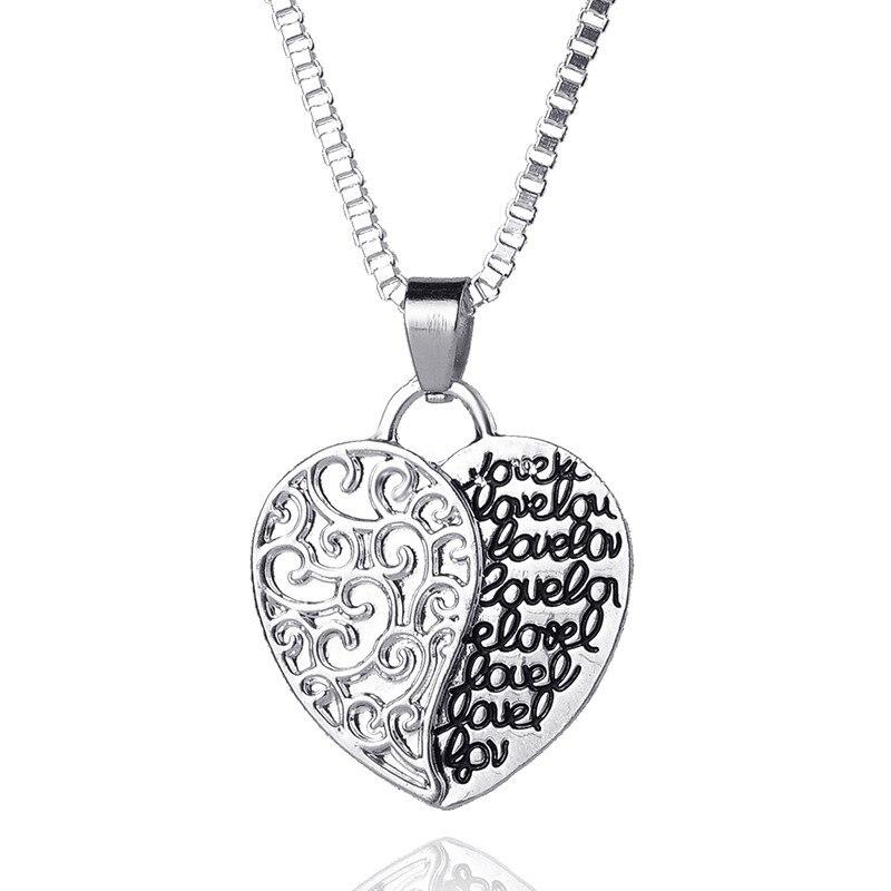 2018 самых продаваемых моделей в Европа и Америка сплав покрытие любовное письмо ожерелье Двусторонняя знак
