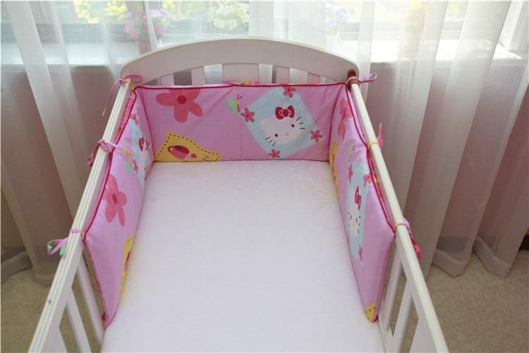 190 * 28cm baby seng støtfanger bomull vaskbar baby sengetøy støtfanger print det glidelås rundt Guardrail krybbe barneseng babyseng støtfanger
