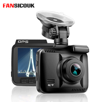 FANSICOUK GS63H Dash Cam 4K 2160P Dash amera Dual Lens Built In GPS WiFi FHD 1080P Car DVR Recorder With G Sensor Loop Recording