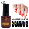 Saviland 1pcs Nail Gel Polish Cat's Eye Top Coat with Magnetic Top Coat Magnet UV Gel Long Lasting Varnishes