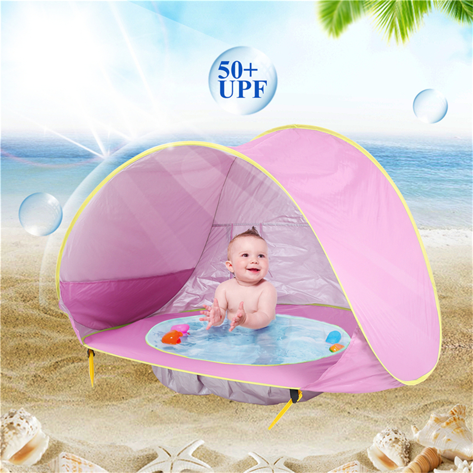 Summer Baby Beach Tent Uv Protecting Sunshelter With A Pool Baby Kids Beach Tent Outdoor Camping Sun Shade With Pool Kids
