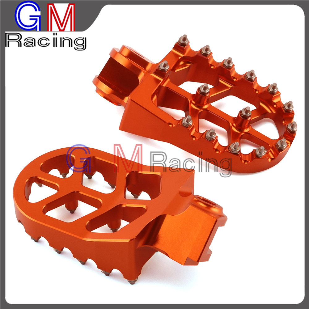 Motorcycle MX CNC Footpegs Foot pegs Rest Pedals For KTM ENDURO SMC SUPER MOTO ADVENTURE 690