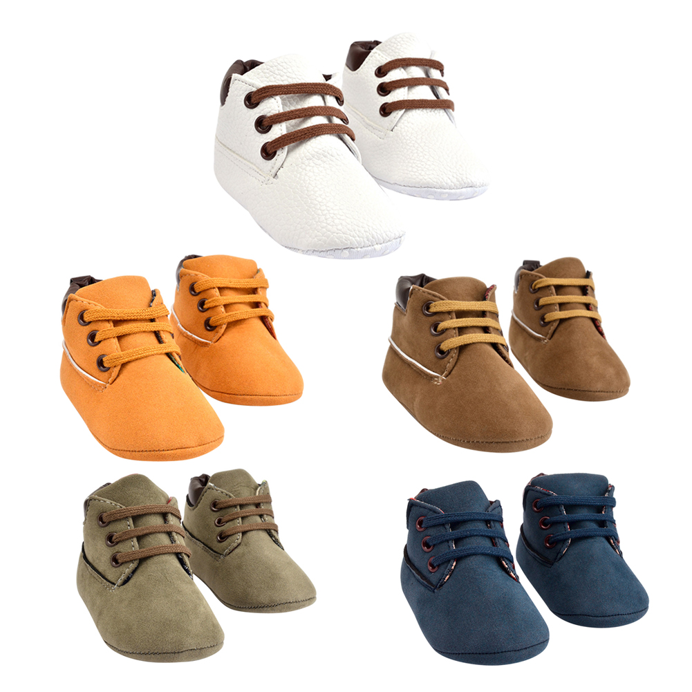 Baby Kids Soft Shoes 3-12 Months Toddler Fashion Solid Prewalker Anti-slip Sole Shoes 11-13cm Boys Girls First Walkers