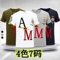 Venta caliente Aeronautica Militare Hombres Algodón de Manga Corta Camiseta de la Fuerza Aérea Uno Bordado Camisa de Las Camisetas de Los Hombres Del Ejército Militar M-5XL