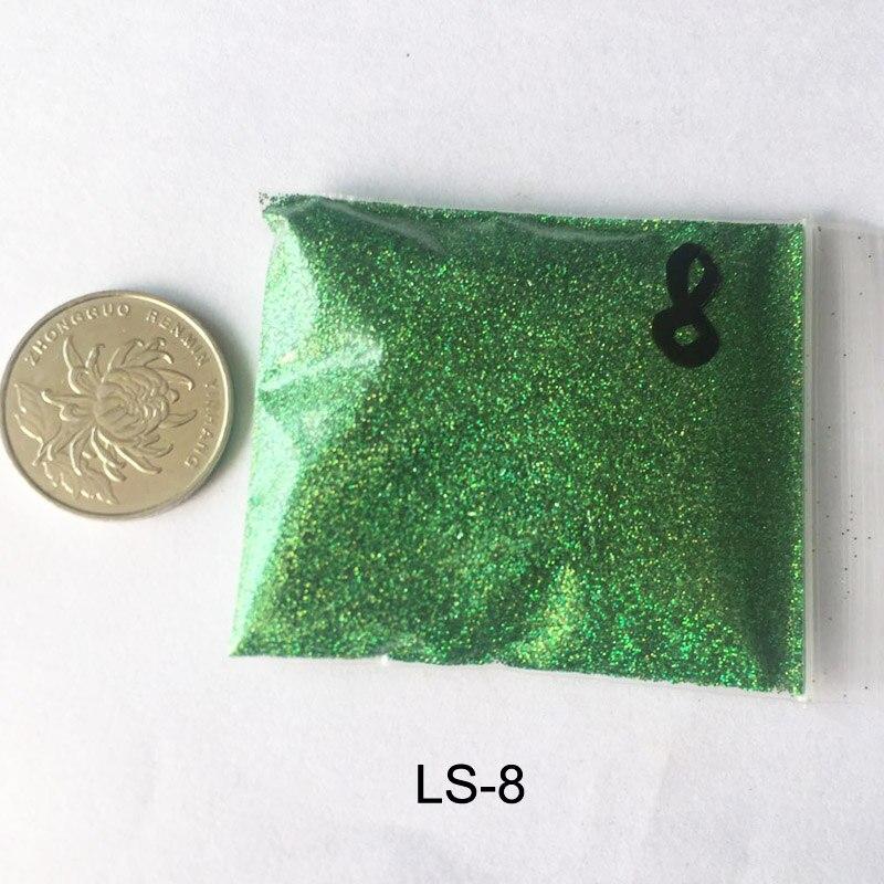 Rikonka 10G голографический блестящий порошок Сияющий сахар ногтей Блеск Лидер продаж пыли порошок для ногтей искусство украшения 21 Цвета - Цвет: LS-8