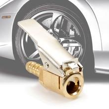 1 шт Авто латунь 8 мм шины колеса шины Air зажим, насос клапан насоса зажим разъем адаптера