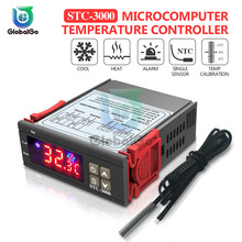 STC-3000 LED Digital Temperature Controller Incubator Thermostat Thermometer Heating Cooling Sensor Meter AC220V 110V DC 12V 24V red light temperature controller xmpa 9121 ac220v