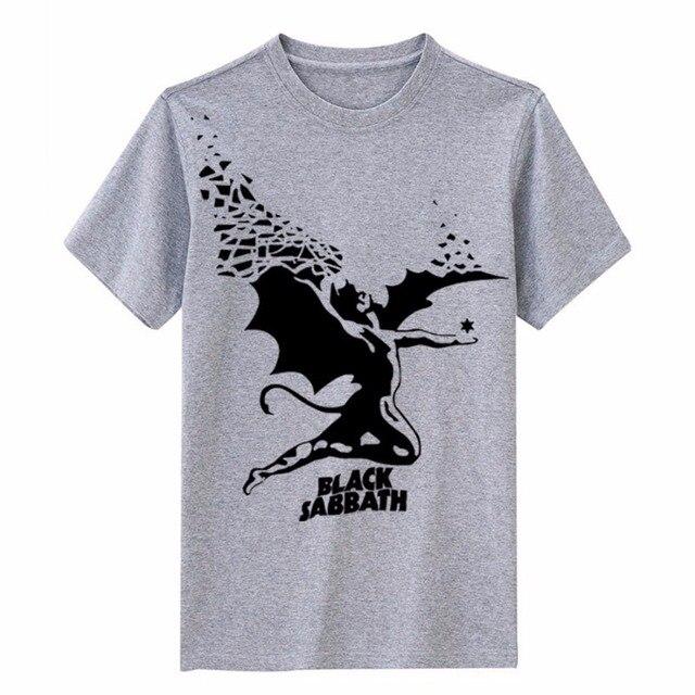 513bf7b89d Black Sabbath anjo da morte impressão de alta qualidade modal de algodão  tee magro estilo britânico