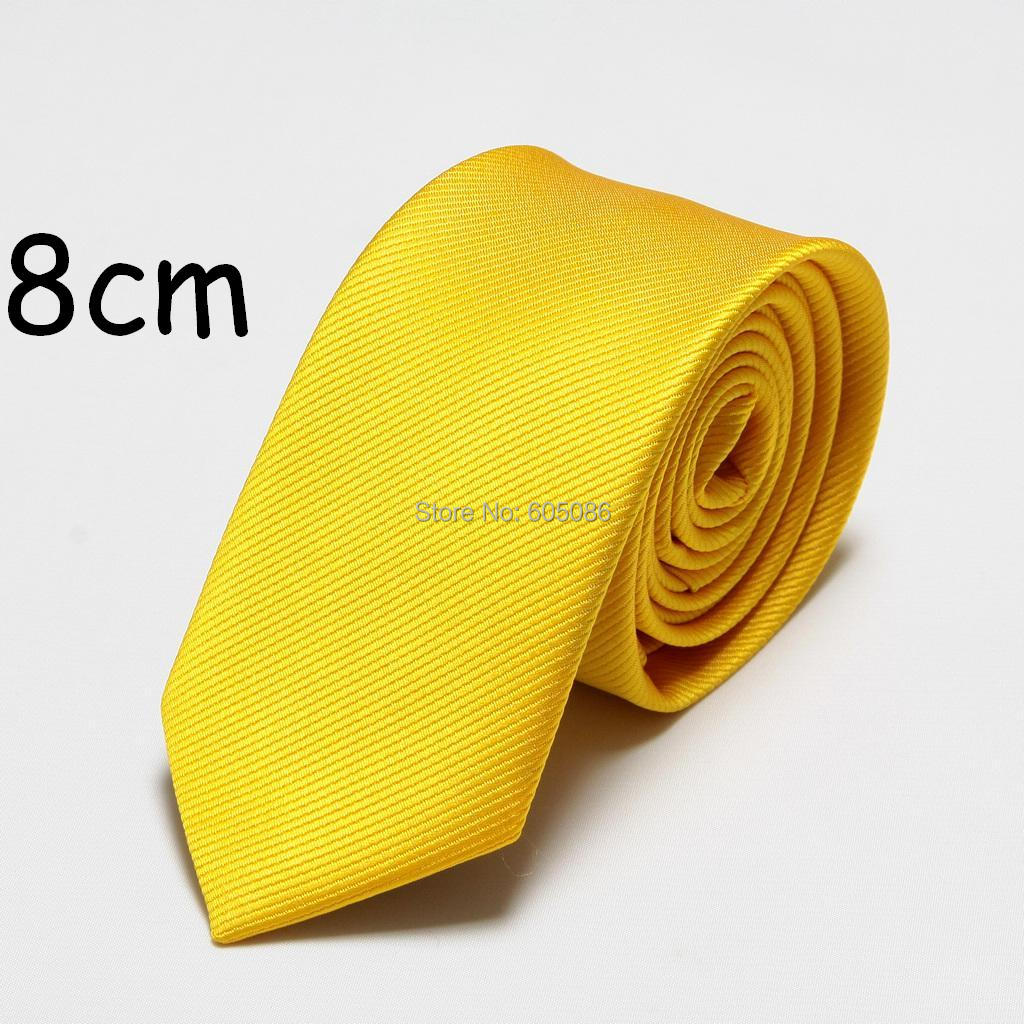 HOOYI 2018 solid polyester fashion mens tie dress neck ties for men cravat 8cm width