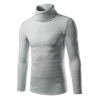 Autumn And Winter Men S Sweater Fashiion Solid Turtleneck Sweaters Men Casual Slim Fit Long Sleeve