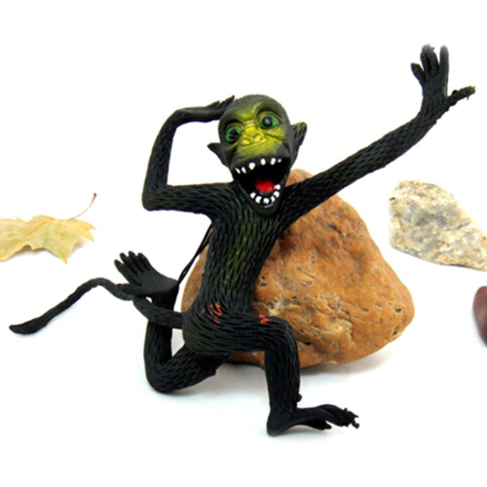 15cm Trick toy Practical Jokes Toys Simulation Monkeys Fool Day Prank Toys Mischievous Small Animals Rubber Monkey Color Random