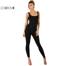 COLROVIE Sleeveless Tank-Top Style Bodycon Jumpsuit/ Catsuit