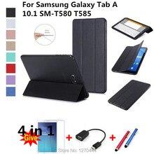 Magnetische Стенд PU lederen beschermhoes voor для Samsung Galaxy Tab A6 10.1 2016 T585 T580 SM-T585 T580N Fundas таблетки крышка