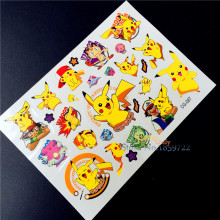 Pokemon Go Temporary Tattoo Flash Tattoo Stickers For CHildren BOdy Art Fake Tatoo, Pikachu Waterproof Body Arm Tatoo Paste Kids